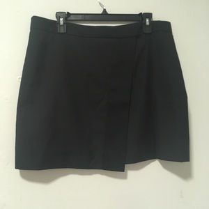 J. Crew Black Wrap Asymmetrical Skirt 12